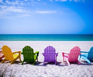 beaches and chairs image