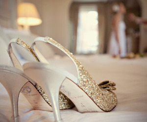shoes, high heels, and glitter image