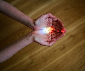 hands and light image