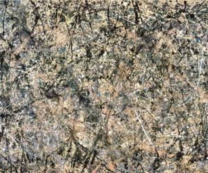 abstract, painting, and pollock image