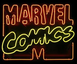 neon, comics, and Marvel image