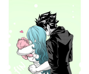 fairy tail, anime couple, and gray fullbaster image