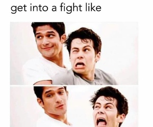 teen wolf, fight, and funny image