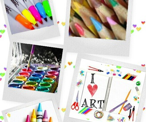 art, art supplies, and Collage image