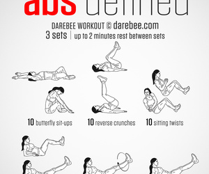 workout and abs image