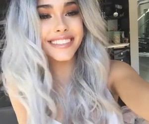 hair, lips, and smile image
