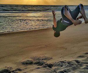 jump, beach, and praia image