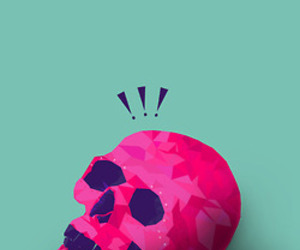 pink and skull image