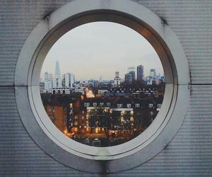 city, light, and window image