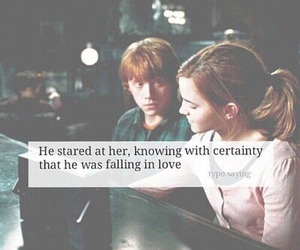 harry potter, quote, and ron & hermione image