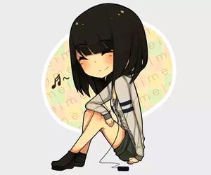 anime, music, and girl image