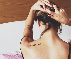 back, girl, and inked image