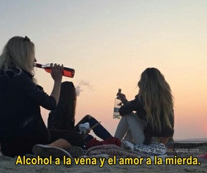 alcohol, amigas, and amor image