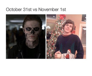 Halloween, evan peters, and ahs image