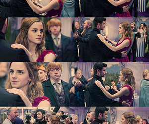 harry potter, hermione, and dance image
