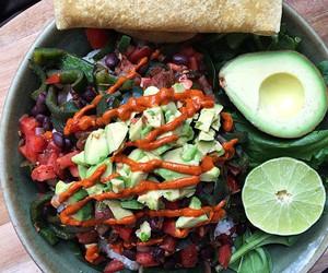 food, girl, and healthy image