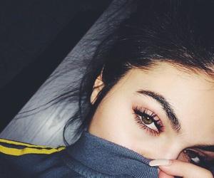 brunette, eyelashes, and eyebrows image