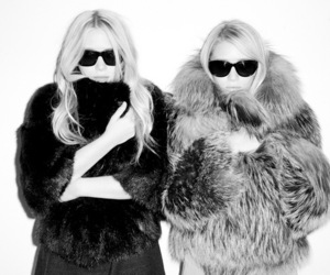 fashion, fur, and olsen twins image