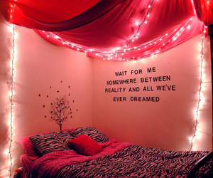 bed, dreams, and lights image