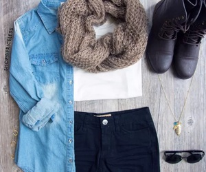 fall, scarf, and trendy image