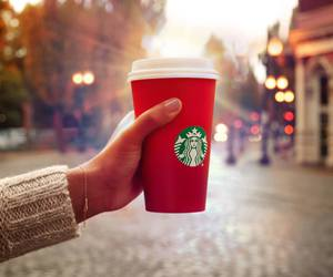 starbucks, coffee, and red image