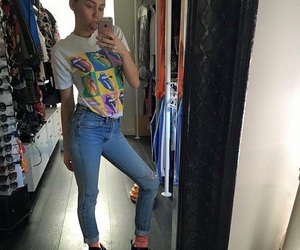 miley cyrus and jeans image