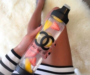 chanel, water, and fruit image