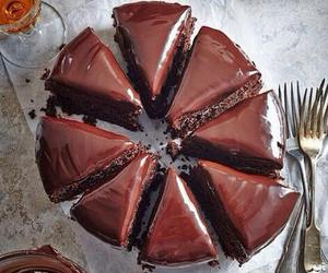 chocolate, yum, and chocolate cake image