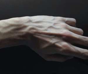 veins, hand, and grunge image