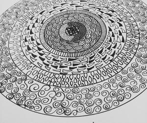 black, circle, and design image