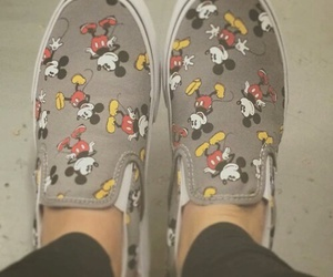gris, mickey, and vans image
