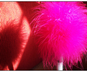 girl, pink, and POM image