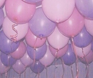 balloons, pink, and grunge image