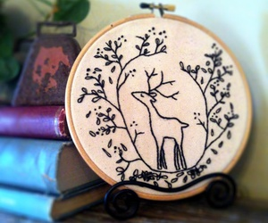 etsy, woodland creatures, and embroidery pattern image