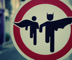 batman, robin, and sign image