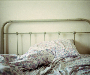bed, floral, and photo image