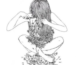 cutting hair, cute, and tumblr drawing image
