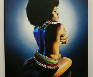africa, black, and lady image
