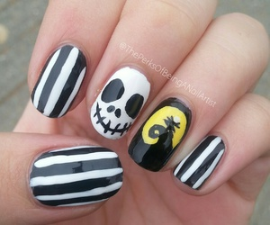 jack skellington, nails, and the nightmare before christmas image