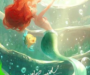 disney, ariel, and the little mermaid image