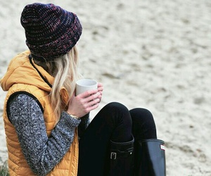 winter, beach, and boots image
