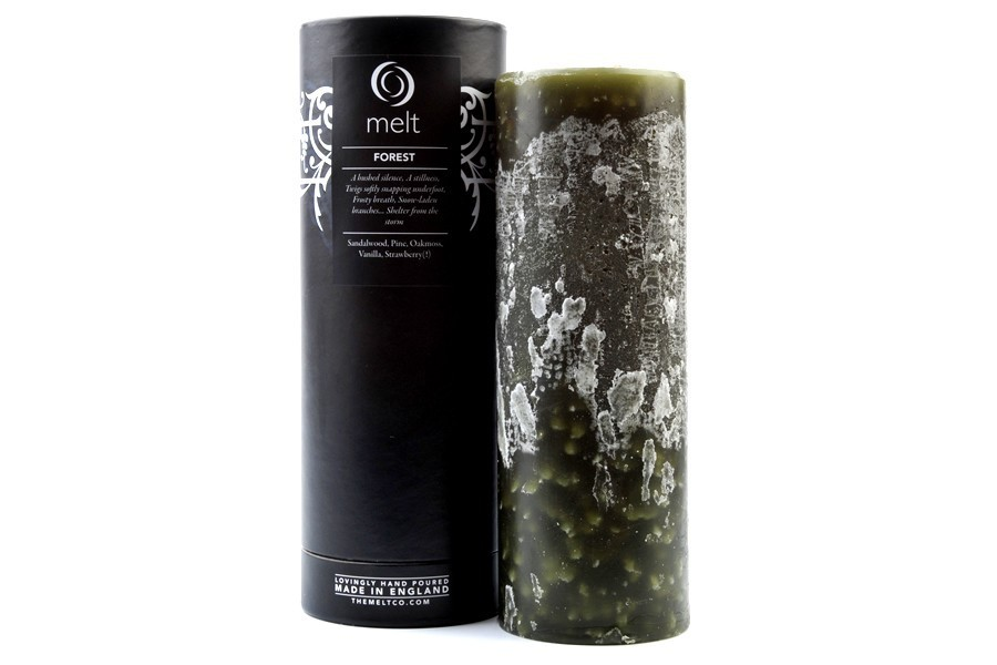 forest, melt, and pillar candle image