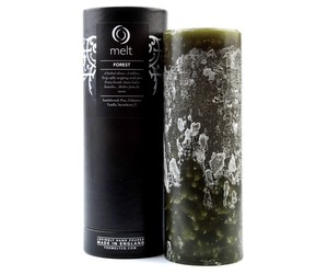 melt, pillar candle, and forest image