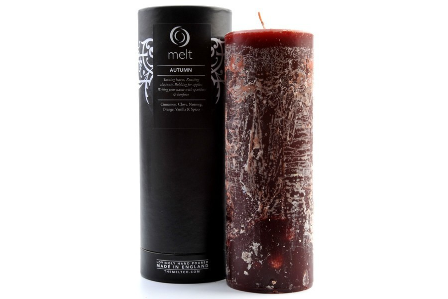 autumn, melt, and pillar candle image