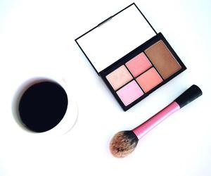 beauty, cosmetics, and coffee image