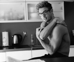 abs, glasses, and guy image