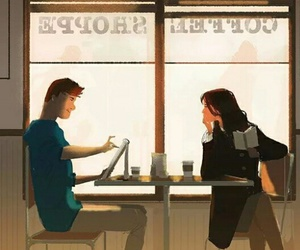 art, coffee shop, and illustration image