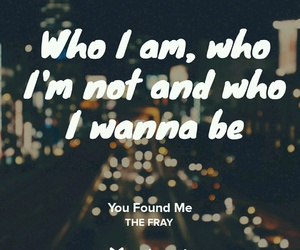 Lyrics, the fray, and you found me image