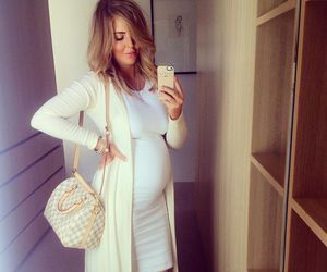 family, fashion, and pregnant image
