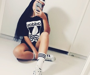 adidas, girl, and style image